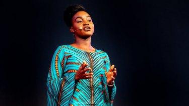 Prudence Melom speaking at TEDx Brisbane in December 2018.