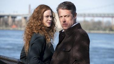 Nicole Kidman and Hugh Grant in a scene from The Undoing.