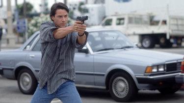 Reeves as Johnny Utah: a Derek Zoolander prototype?