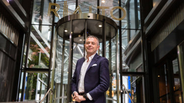 Webuild's executive director APAC, Marco Assorati, outside the Rialto tower in Collins Street.