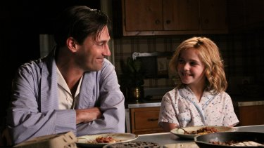 A young Kiernan with Jon Hamm in Mad Men.