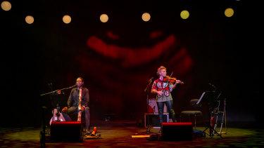 William Barton and Veronique Serret in Heartland for Sydney Festival.