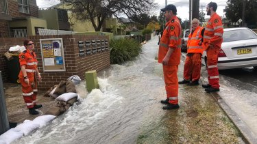 Dozens of homes have been affected by the flood in western Sydney.