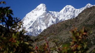 The twin peaks of Nanda Devi and Nanda Devi east.