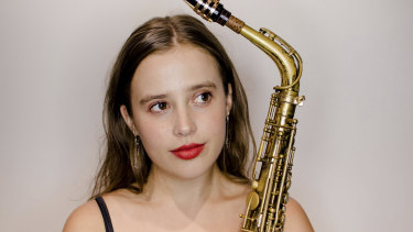 Melbourne Women's International Jazz Festival saxophonist Holly Moore.