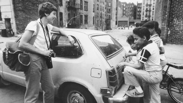 Cooper in action on the streets of Alphabet City, New York, in the 1970s.