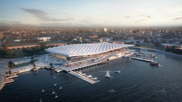 An artist's impression of the new-look Sydney Fish Market.