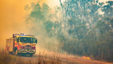 Three teenagers have been arrested over a fire that almost raged out of control on Tuesday (file image).