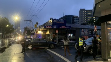 Police have set up crime scenes on Chapel Street, Prahran, after an early morning shooting.