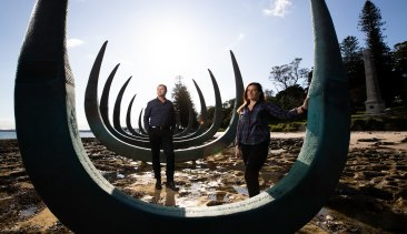 Artist, Alison Page, and Government Architect, Dillon Kombumerri, are part of the government initiative to design with Indigenous values and input.