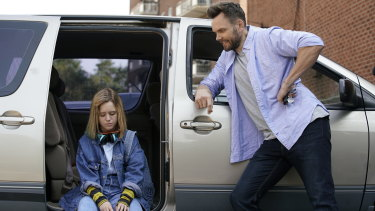 Lulu Wilson and Joel McHale star as Becky and her dad Jeff in the horror Becky.