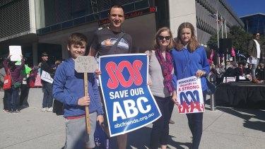 (From left) Owen Davis, his parents Shannon Walsh and Matthew Davis, and sister Juliette.