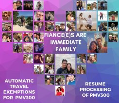 An image produced by the Grant Offshore Partner Visas Now Facebook group that is lobbying for travel exemptions for holders of prospective spouse visas. All couples pictured are currently fighting to be reunited.