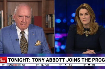 """It doesn't work like that, Alan,"" Peta Credlin corrects Alan Jones on SkyNews' Jones & Credlin."