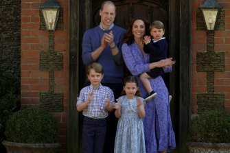 The Cambridges and their children, Prince George, 7, Princess Charlotte, 5, and Prince Louis, 3.