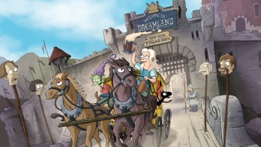 Disenchantment, by The Simpsons' creator Matt Groening, is set in the medieval fantasy kingdom of Dreamland.