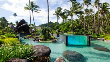 Laucala Island Resort in Fiji where outgoing NAB boss Andrew Thorburn enjoyed a lavish holiday arranged by his former chief of staff.