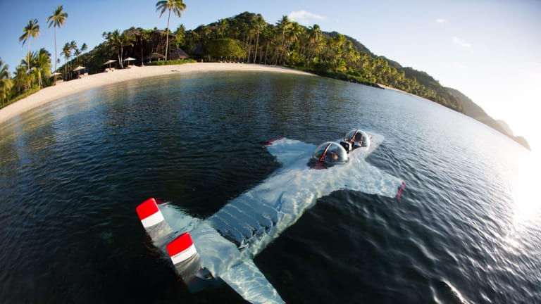 Laucala Island Resort has its own submarine that guests can use.
