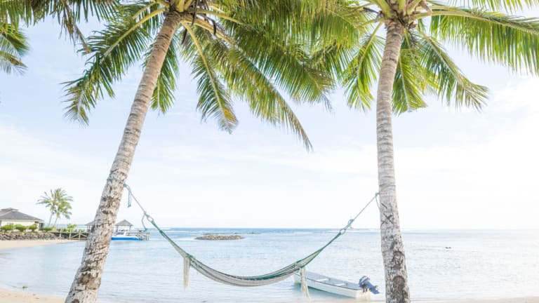 The moment you lie down in a hammock, your body gives out, your mind drifts off, and you are transported to a tropical white-sand beach with ocean breezes gently rocking you to sleep between swaying palms.