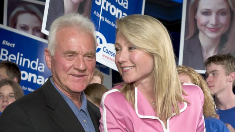 Belinda Stronach with her father Frank.