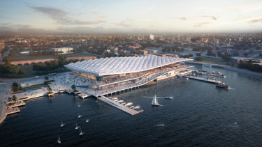 An artist's design of the new-look Sydney Fish Market.