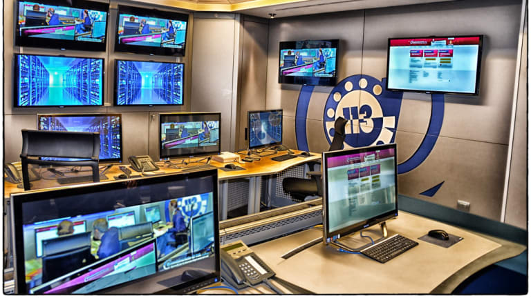 A control centre of Italy's Polizia Postale - or postal and communications police.