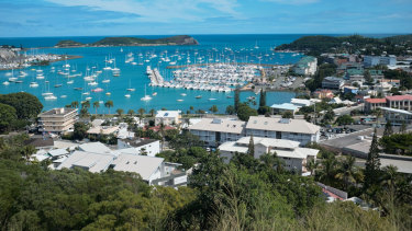 The bay of Noumea, the capital of New Caledonia.