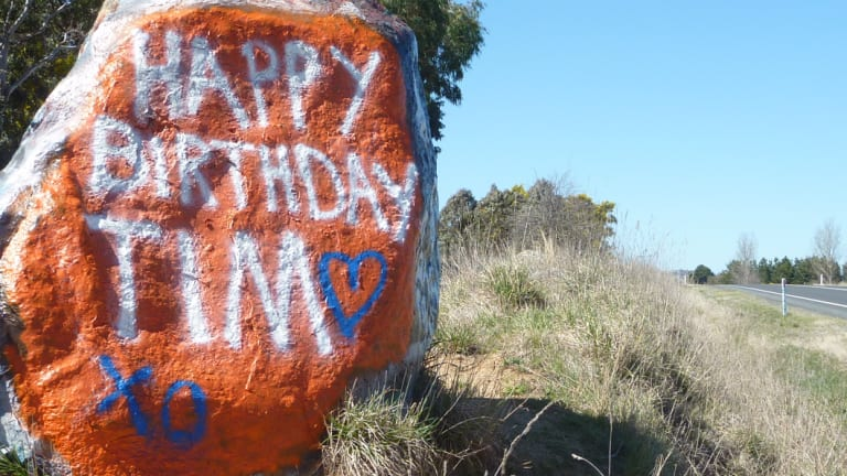 Have you written on Braidwood's birthday rock?