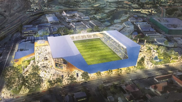 The Brisbane Strikers commissioned a design for a boutique stadium at Perry Park as part of their abandoned A-League bid.