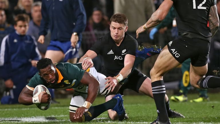 Big travellers: New Springboks captain Siya Kolisi during a Rugby Championship Test against New Zealand last year