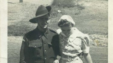 Stan Roberts with his young wife Nellie.