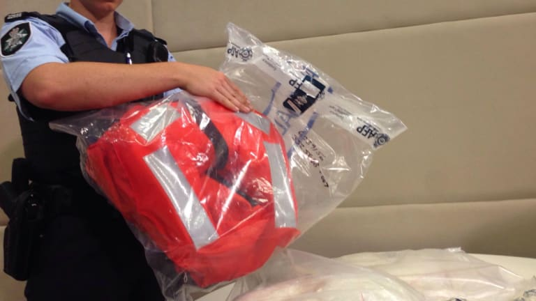 Some of the drugs found at the Port of Dampier were found in this life vest.