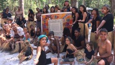 K'gari - Fraser Island Queensland, with the Uluru Statement, 2017.