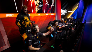 The FNATIC Rainbox Six Siege team, made up of Australians, compete in the United States.