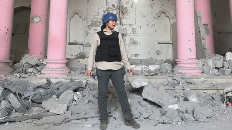 Rukmini Callimachi, who has covered al-Qaeda and IS since 2014, seems as unflappable as you'd expect of someone who is in daily contact with terrorists.