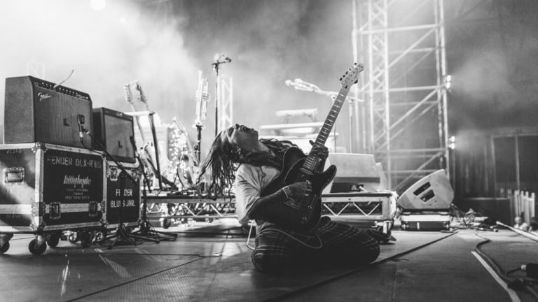 Tash Sultana, on stage earlier this year, has been nominated in The Age Music Victoria Awards.