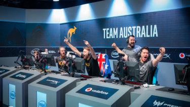 Team Australia celebrates their win of 'The Caches' last time around.