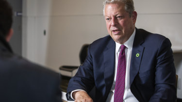 Former  US vice-president Al Gore speaks about climate action.