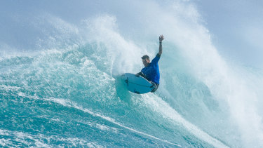 Jack Freestone in action at the Margaret River Pro, which was cancelled due to two separate shark attacks.
