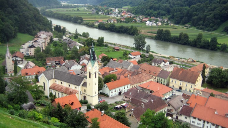 Sevnica, Slovenia, where Melania Trump grew up.