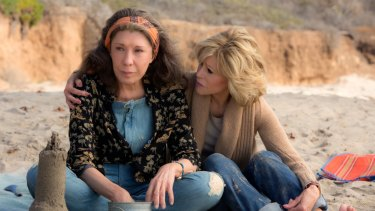 Lily Tomlin and Jane Fonda in Grace and Frankie.