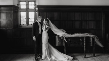 From newsroom to newlyweds: Jerrie Demasi and Michael Genovese tie the knot.