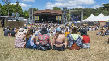 Fans at Falls Festival in Lorne.