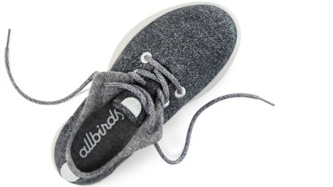 Allbirds shoes are made from wool and soft and downy to touch.