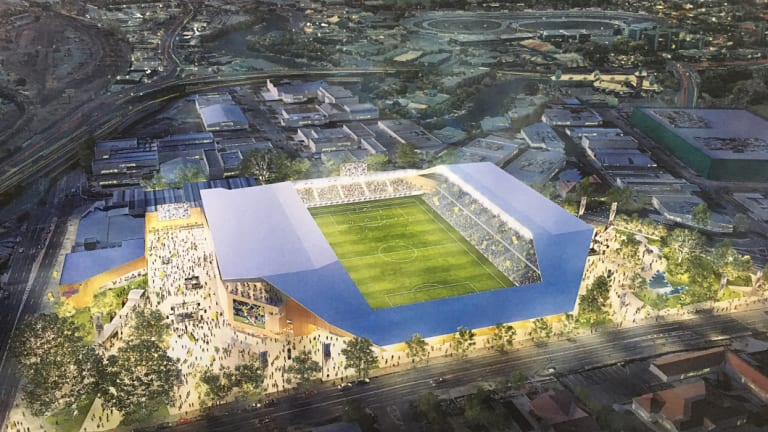 The Brisbane Strikers commissioned Cox Architects to design a boutique stadium for Perry Park.