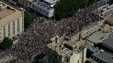 The 'invasion day' rally in Melbourne.