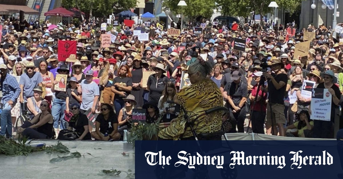 'Enough is enough': Perth women men and children kick off national women's marches – Sydney Morning Herald