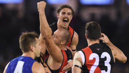 Great Friday: Daniher returns as surging Bombers thump Kangaroos