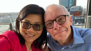 Australian economist Sean Turnell with wife Ha Vu.