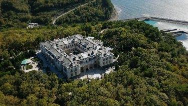 Vladimir Putin's alleged lavish mansion on the Black Sea coast.